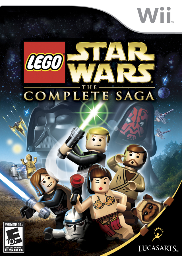 Return filed in cover art lego star wars the complete saga