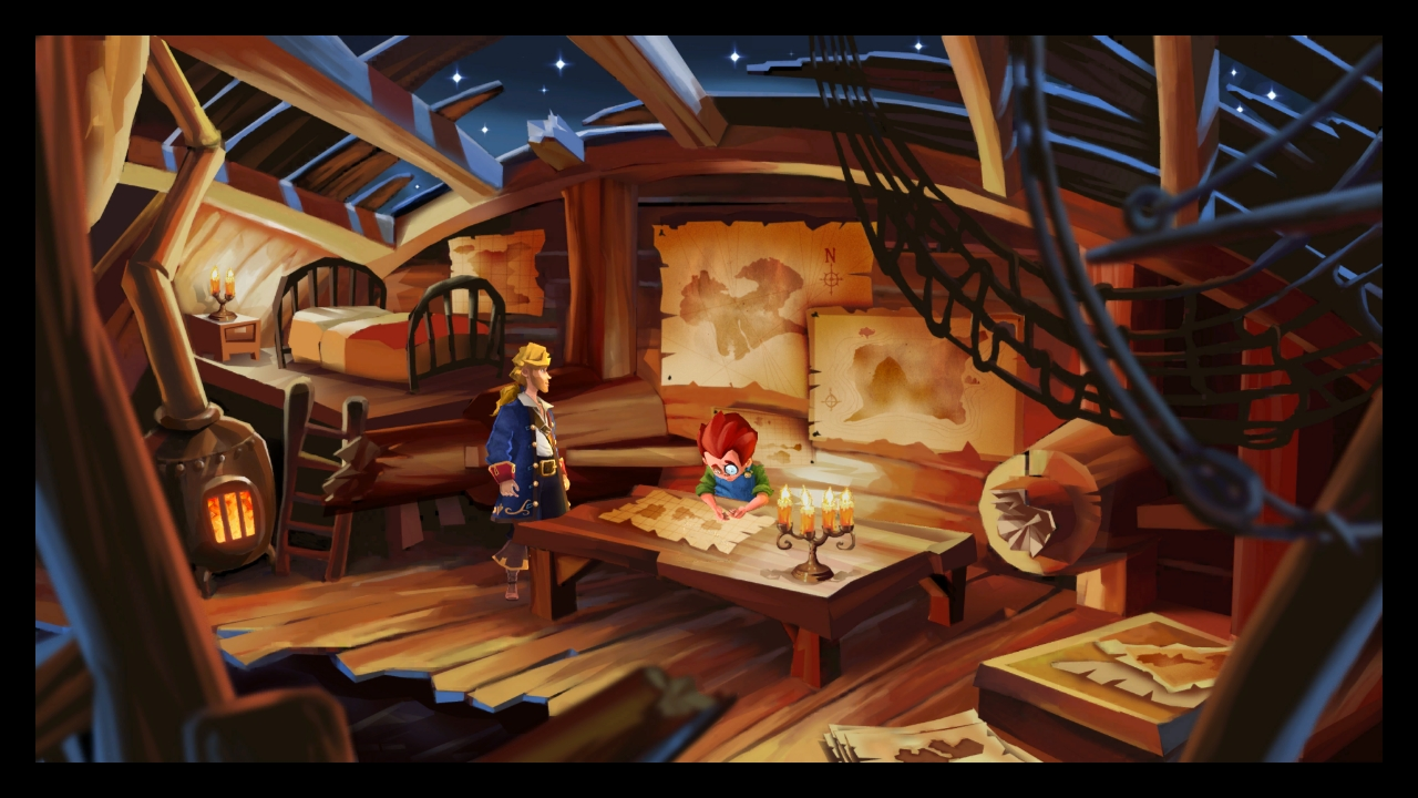 Monkey island 2 lechuck s revenge concept art the international -  Brrr Said Wally Warming His Hands Next To The Candle