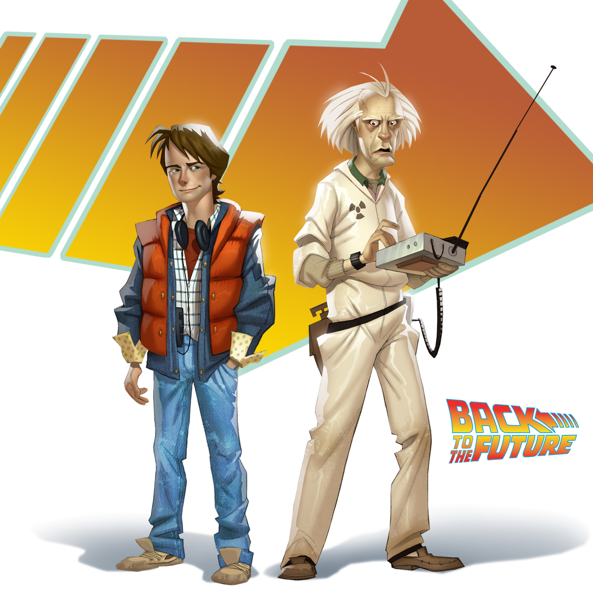 Back to the future concept art the international house of mojo