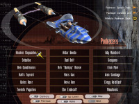 Podracer main menu. I can't even pronounce half those names, much less remember them.