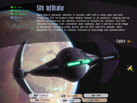 Sith Infiltrator, introductory page