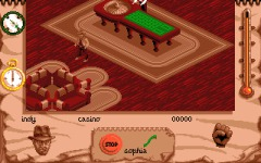 Indy explores the casino (Amiga)