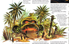Steve Purcell's drawing of the Monkey Head, scanned from <i>Adventurer</i> #1