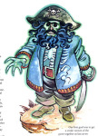 Steve Purcell's drawing of the Ghost Pirate LeChuck, scanned from <i>Adventurer</i> #1