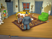 """""""Bossy"""" was the name of one of the cows in Telltale's other adventure game, <i>Bone: The Great Cow Race</i>. The same model is also used."""