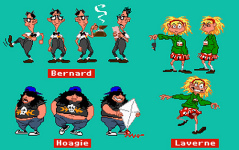 Miscellenaeous in-game screens of Bernard, Hoagie and Laverne.