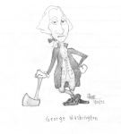 Concept art of to-be President George Washington