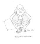 Concept art of Benjamin Franklin.