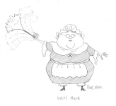 Concept art of the Hotel Maid.