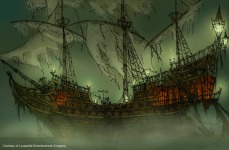 LeChuck's ship was called the Death Starfish in CMI, however the fact was never actually mentioned in the game.