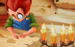 """""""Brrr!"""" said Wally, warming his hands next to the candle."""