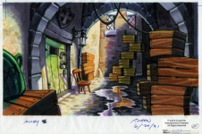 Original background drawing for the Gambler's Club doorway.