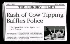 It's a real newspaper!