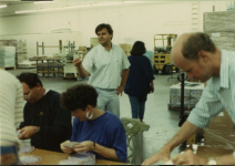 The LucasArts team work overtime to make sure The Secret of Monkey Island ships on time.
