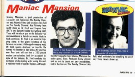 Nintendo Power Issue #16 (September/October 1990) Maniac Mansion Feature -- stub about the television show.