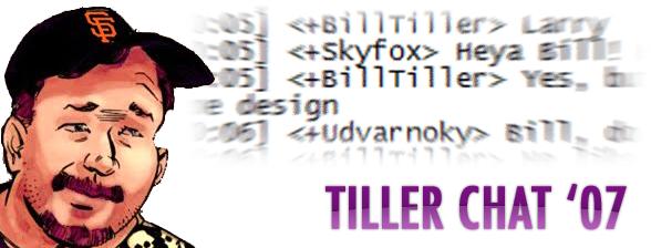 Tiller Chat header