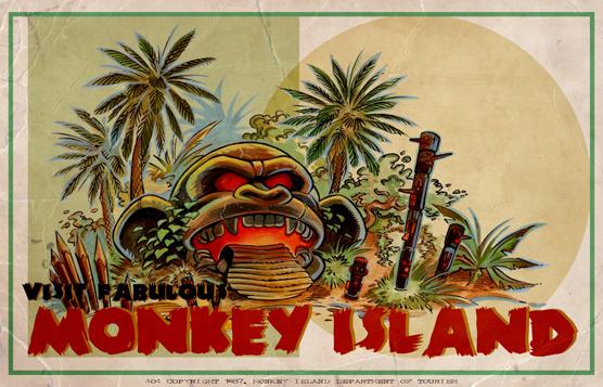 Monkey Island Christmas card by Redbeard1973