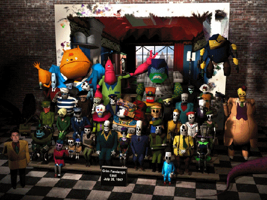 The cast of Grim Fandango.