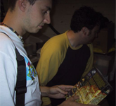 Tim signs stuff .. including a copy of Vollgas, a great game of his.