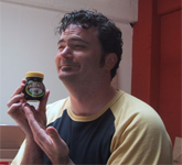 Tim loves Marmite, which is actually a lie because he hates it. But you do either love it or hate it.Oh, and I love it.