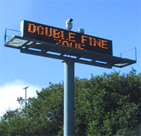 No, this isn't actually the sign for Double Fine Productions. But wouldn't that be cool?