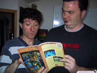 """I don't remember that part of the game,"" Tim and Dave remark as they look at the Monkey Island 2 hint book."