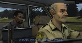 In episode 1 there's a reference to Law & Order, which was the franchise that Telltale had just made a series from before The Walking Dead