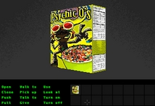 A fictitious cereal with Raz from Psychonauts on the box, based on the PAL Psychonauts boxart.