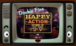 """The original logo for """"Happy Action TV"""" before it was renamed Kinect Party"""