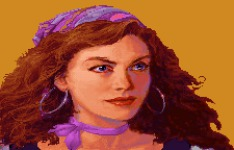 The original closeup of Elaine in MI (where Guybrush is speechless) was supposedly based on Avril Harrison, an artist who was working for Lucas Games at the time (she also worked on the original Prince of Persia, among other things).