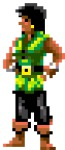 Carla, the Swordmaster, was a likeness of Carla Green who was at that time in charge of Lucas Games Product Support.