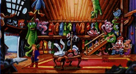 A lot of familiar faces in the costume shop, if you keep an eye out for them. Scroll down for a screenshot of Sam & Max.