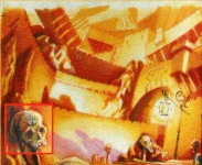 There's the top half of the LucasArts logo in this piece of concept art from Monkey Island 2 ? thanks to Thomas Ekers for spotting it.