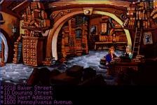 The addresses Guybrush gives the librerian belongs to... 221B Baker St.: Sherlock Holmes 10 Downing St.: The British Prime Minister 1060 W. Addison: Wrigley Field 1600 Pennsylvania Av: The White House